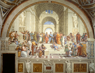 in the Italian Renaissance painter Raphael's , The School of Athens: