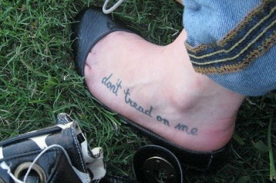 Foot Tattoo Quote