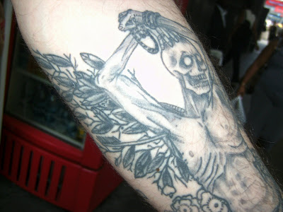 Cenk's Skeleton Tattoo Pays Homage to Yukio Mishima and St. Sebastian