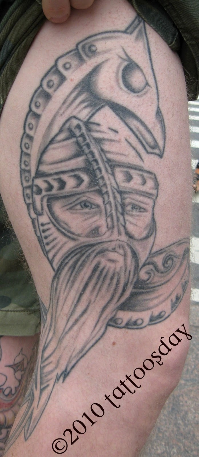 tattoosday a tattoo blog rune 39 s viking reflects his