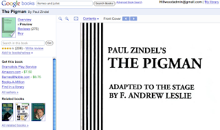 The Pigman s Legacy  The Pigman      by Paul Zindel     Reviews     Galle Co China and India