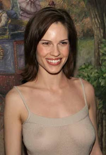 Hollywood Actress Hilary Swank loves sale shopping