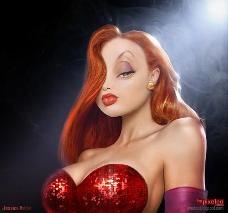 cartoon characters jessica rabbit. Jessica Rabbit is Roger's wife in the book and movie.
