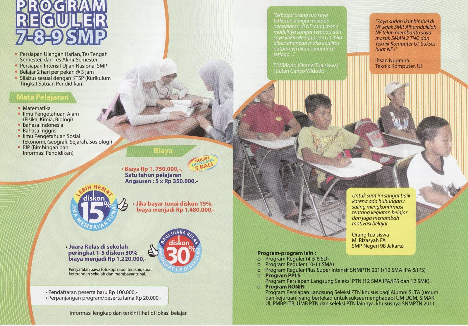 contoh-contoh brosur sekolah smp menarik