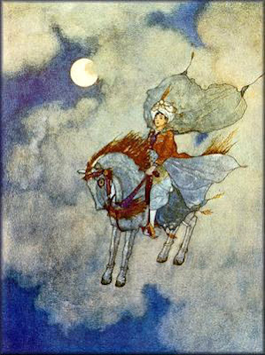 Edmund Dulac's 'The Ebony Horse'
