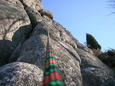cuerda escalada roca