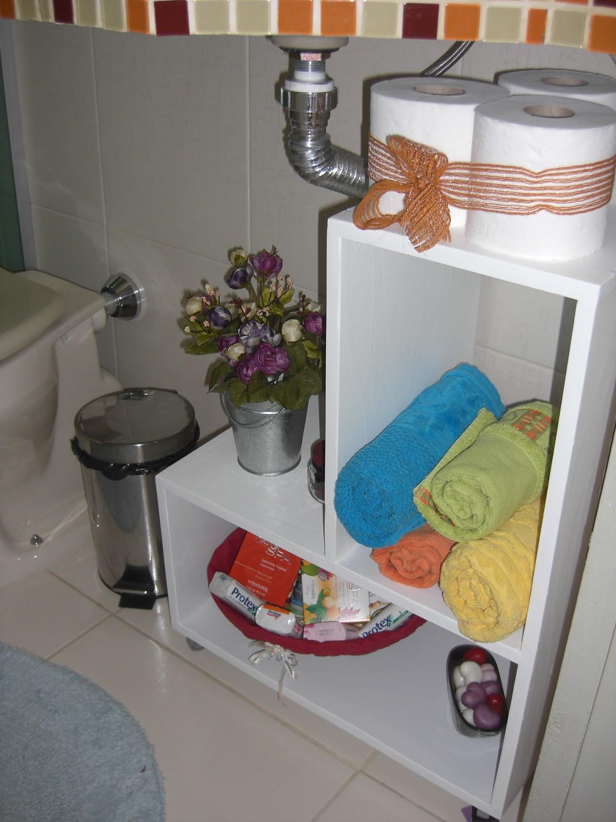 Coisas da Dê MINI ARMÁRIO PARA BANHEIRO -> Armario De Banheiro Artesanal