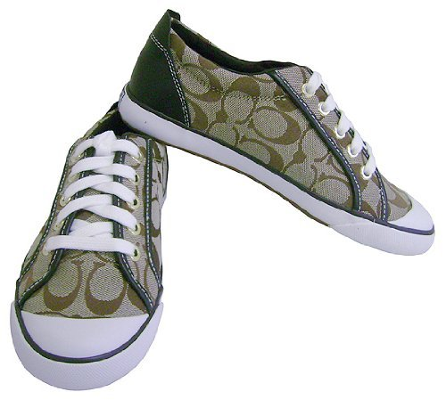 tennis shoes coach signature barrett khaki chestnut