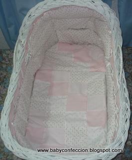 Baby confecciones moises blanco con capota de mimbre - Sabanas moises mimbre ...