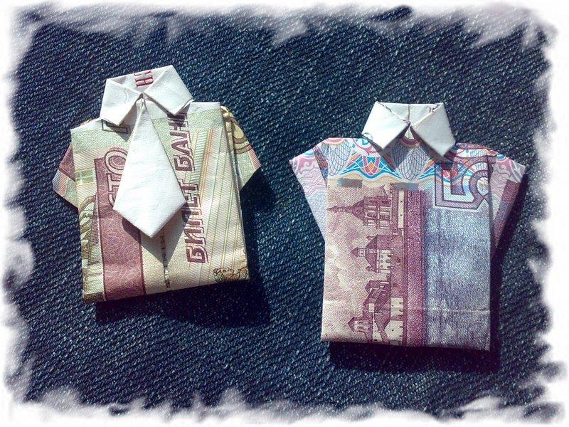 Оригами из 500 рублей