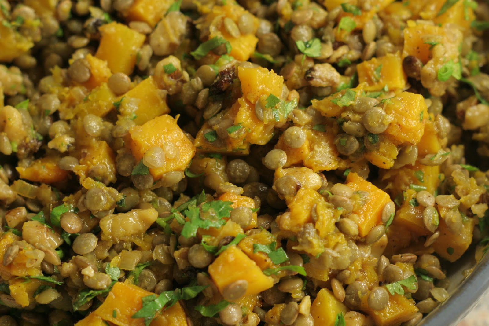 Four seasons of food: Lentils with curried butternut ...