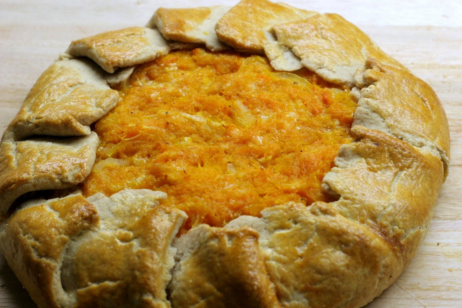 Four seasons of food: Butternut squash galette