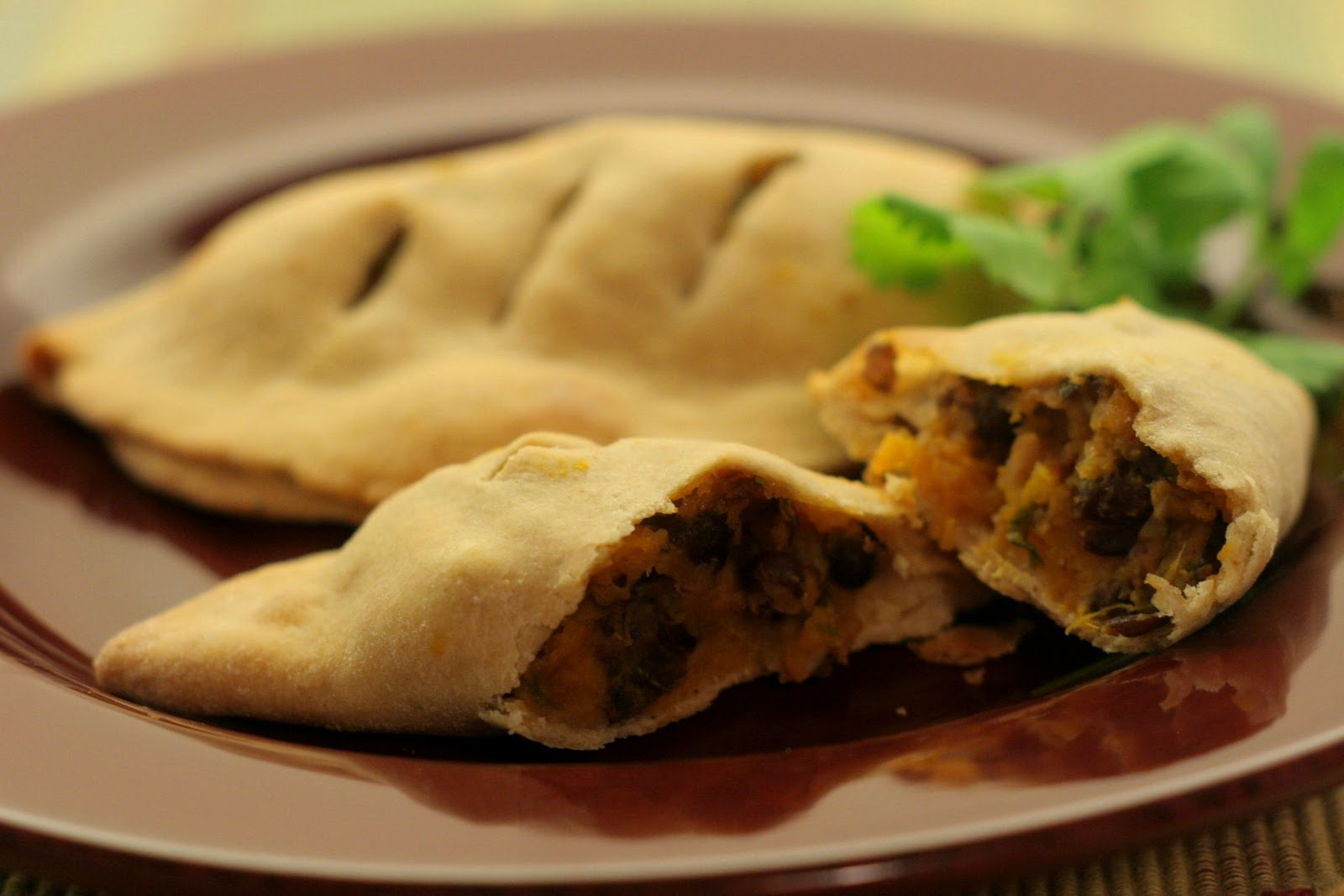 Four seasons of food: Sweet potato and black bean empanadas