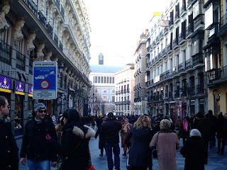La calle del Arenal, en una bulliciosa tarde navideña