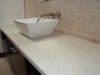 Example of professional concrete countertops in bathroom
