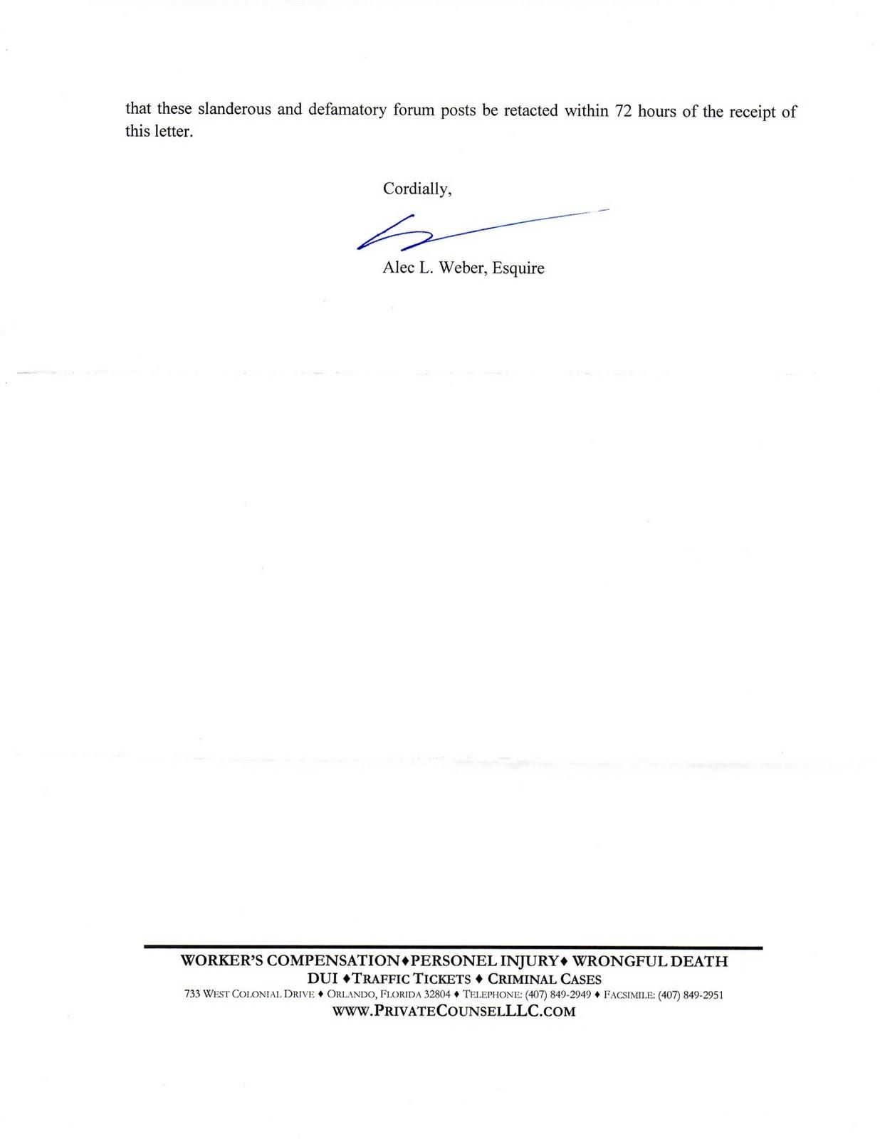 Green Harvest Letter From Scott Mcwilliams Lawyer