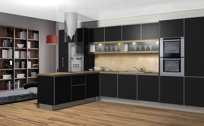 Combinacion perfecta de negro y madera