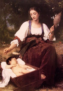 Lullaby di William-Adolphe Bouguereau