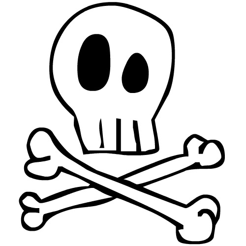 Displaying (18) Gallery Images For Skull And Crossbones Template...