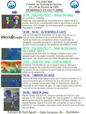 programa domingo pulgas mix barcelona