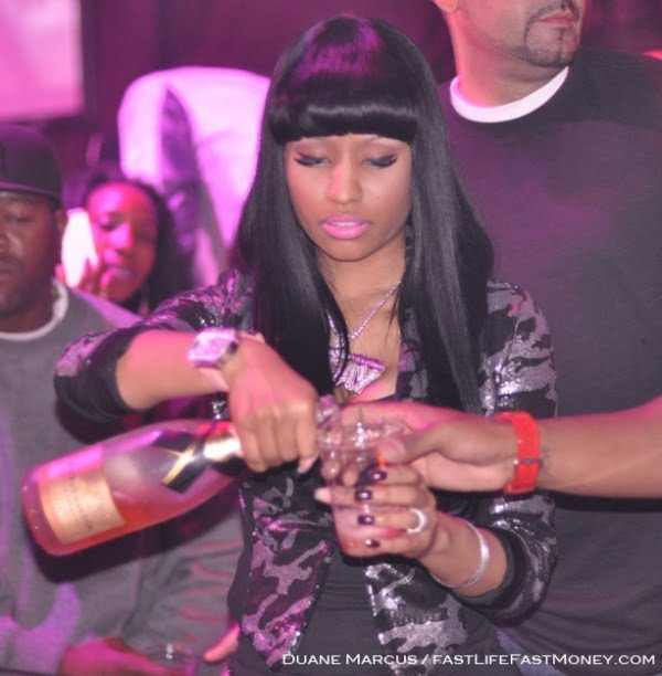 nicki minaj pink friday necklace. Nicki Minaj Celebrates The
