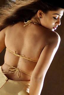 Actress back pose hot photos - Nayantara