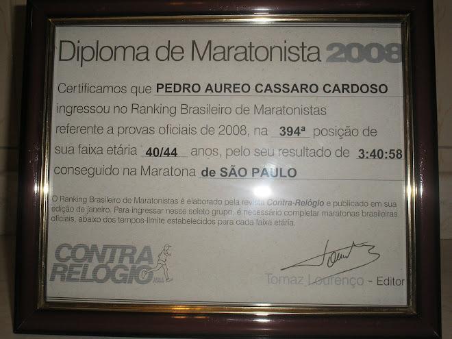 MEU DIPLOMA DE MARATONISTA 2008...
