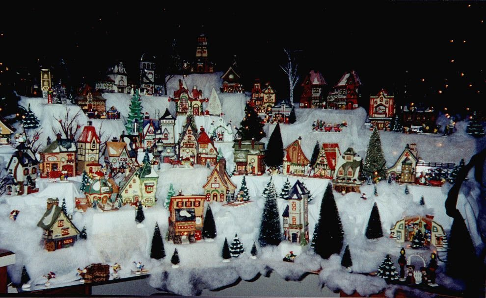 you know those really cute light up christmas villages i have a small ...