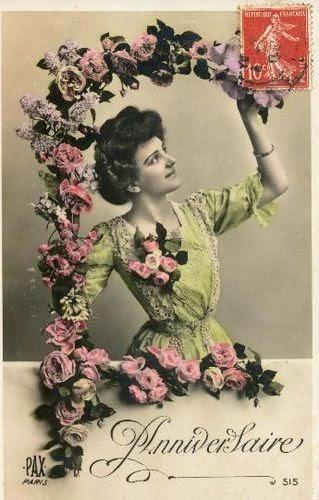 Cartes postales anciennes: Carte postale ancienne, Anniversaire