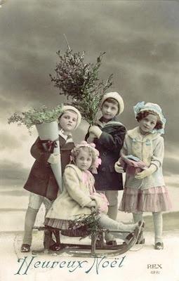 Cartes postales anciennes: Carte postale ancienne, enfants et luge