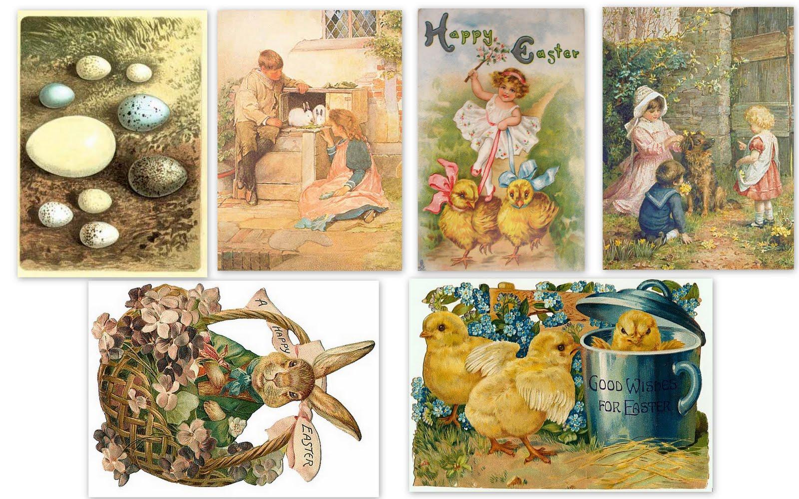 Cartes postales anciennes: Cartes postales anciennes Pâques