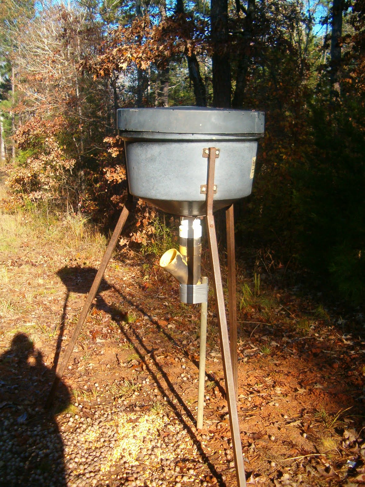 feeder of lion cam photo boss game taking outdoor whitetail feeders moment deer mountain buck a dramatic