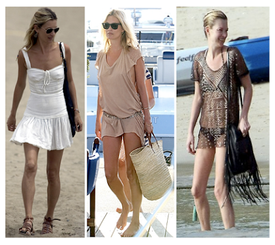 Looks Kate Moss para la playa mini túnicas