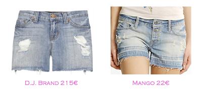 Shorts y bermudas: D.J.Brand 215€ - Mango 22€
