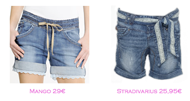 Shorts y bermudas: Mango 29€ - Stradivarius 25,95€
