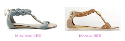 Parecidos Razonables: sandalias planas Mustang - Mango