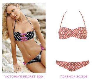 Comparativa precios bikinis para delgadas: Victoria's Secret $39 vs TopShop 30,30€