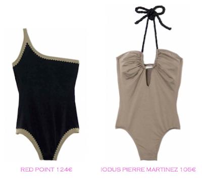 Comparativa precios bañadores rellenitas: Red Point 124€ vs IODUS Pierre Martinez 105€