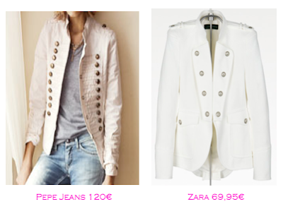 Chaquetas militares: Pepe Jeans 120€ - Zara 69,95€