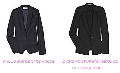 Tienda online: Net-a-porter: Chaquetas smoking: Paul & Joe 360€ vs Diane von Furstenberg 108€