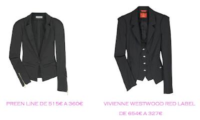 Tienda online: Net-a-porter: Chaqueta smoking: Preen Line 360€ vs Vivienne Westwood 327€
