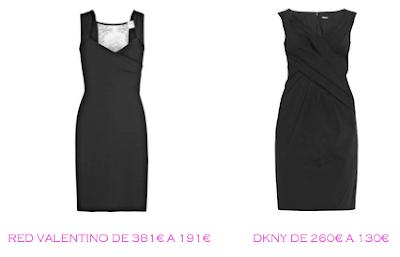 Tienda online: Net-a-porter: Vestido LBD: Red Valentino 191€ vs DKNY 130€