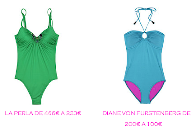 Tienda online: Net-a-porter: Bañador: La Perla 233€ vs Diane von Furstenberg 100€