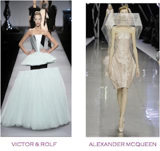 Dos vestidos que se podrían considerar obras arquitectónicas. Victor&Rolf - Alexander McQueen
