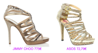 Sandalias Jimmy Choo vs Asos