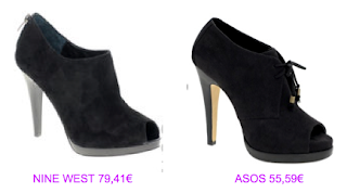 Abotinados peep toe 2 Nine West vs Asos