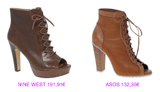 Botines pee toe 2 Nine West vs Asos