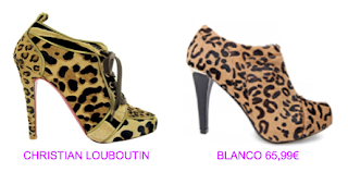 Botines print animal Christian Louboutin vs Blanco