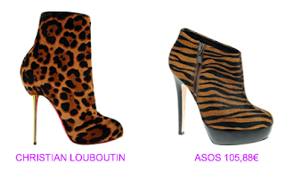 Botines print animal 2 Christian Louboutin vs Asos