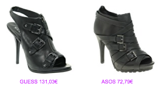 Abotinados peep toe 4 Guess vs Asos